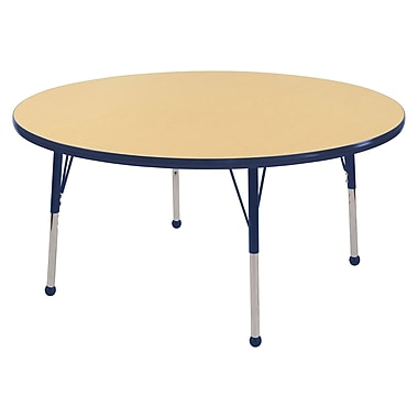 """48"""" Round T-Mold Activity Table, Maple/Navy/Toddler Ball"""