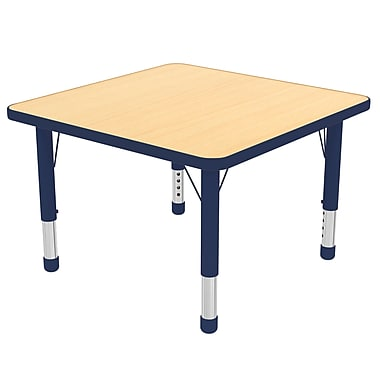 "30"" Square T-Mold Activity Table, Maple/Navy/Chunky"