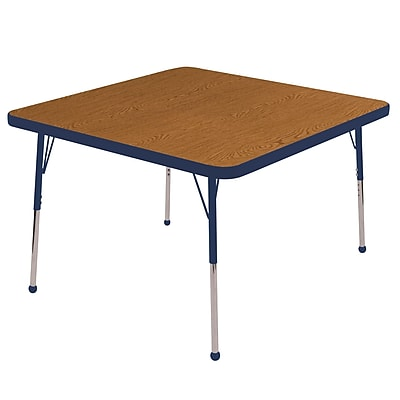 "30"" Square T-Mold Activity Table, Oak/Navy/Standard Ball"