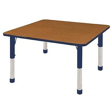 "48"" Square T-Mold Activity Table, Oak/Navy/Chunky"