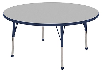 """30"""" Round T-Mold Activity Table, Grey/Navy/Toddler Ball"""