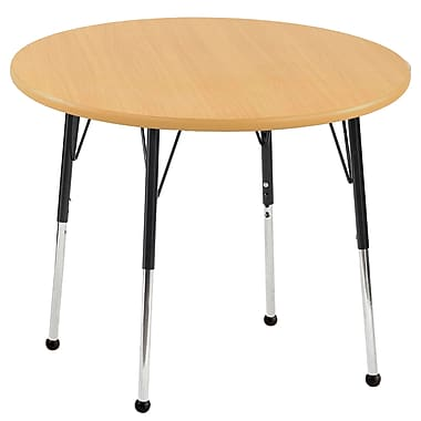 """30"""" Round T-Mold Activity Table, Maple/Maple/Black/Standard Ball"""