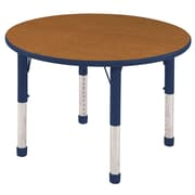 ECR4kids Chunky Legs 30'' Round Table, Oak/Navy (ELR14121OKNVC)