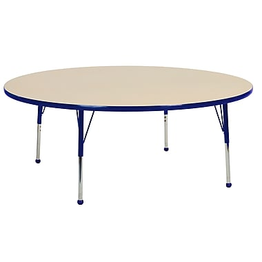 """60"""" Round T-Mold Activity Table, Maple/Blue/Toddler Ball"""