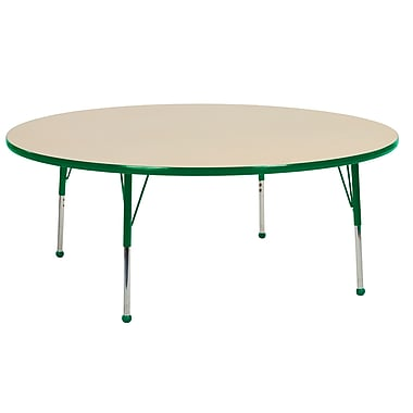 """60"""" Round T-Mold Activity Table, Maple/Green/Standard Ball"""