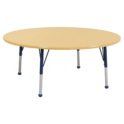 "60"" Round T-Mold Activity Table, Maple/Maple/Navy/Standard Ball"