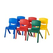 ECR4kids Plastic/Poly Desk, Yellow/Red/Green/Blue (ELR-15135-AS)