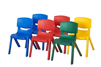 ECR4kids Plastic/Poly Desk, Yellow/Red/Green/Blue (ELR-15134-AS)