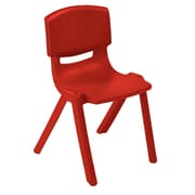 "ECR4Kids 10"" Resin School Stack Chair , Red, (ELR-15410-RD)"