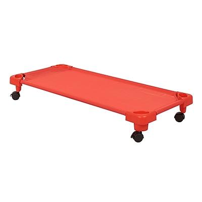 ECR4Kids Standard Stackable Kiddie Cot Carrier - Red (ELR-16125-C-RD)