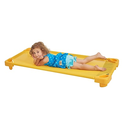 ECR4Kids Standard Stackable RTA Kiddie Cot- Yellow (ELR-16127-YE)