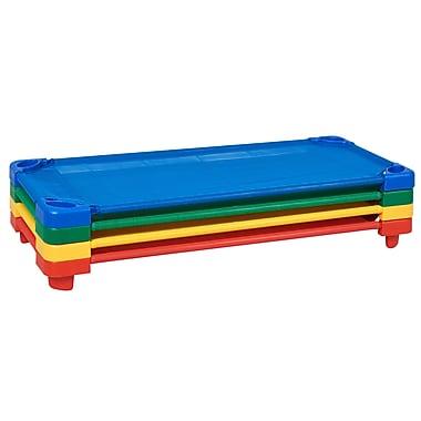ECR4Kids Standard Stackable Kiddie Cot, 4-Piece - Assorted Color (ELR-16128-AS)