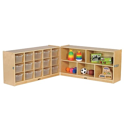 ECR4Kids Fold and Lock 15 Tray Cabinet with 24