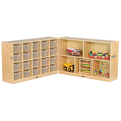 ECR4Kids Fold and Lock 20 Tray Cabinet with 30