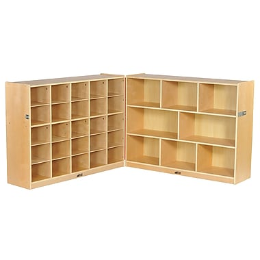 ECR4Kids Fold & Lock 25 Tray Cabinet with 36