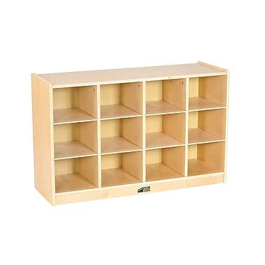 ECR4Kids Birch 12 Cubby Tray Cabinet (ELR-17252)