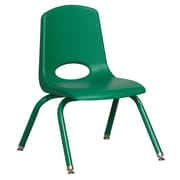 "ECR4Kids 12"" Stack Chair with Matching Legs - Green (ELR-2193-GNG)"
