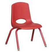 "ECR4Kids 12"" Stack Chair with Matching Legs - RDG (ELR-2193-RDG)"
