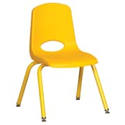 "ECR4Kids 14"" Stack Chair with Matching Legs - Yellow (ELR-2194-YEG)"