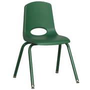 """ECR4Kids 16"""" Stack Chair with Matching Legs - Green (ELR-2195-GNG)"""