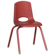 "ECR4Kids 16"" Stack Chair with Matching Legs -Red (ELR-2195-RDG)"