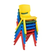 ECR4Kids® Assorted Resin Chairs, 6 Chairs/Pack