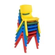 ECR4KidsMD – Chaises en résine de couleurs variées, 6/paquet