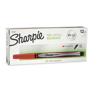 Sharpie® Pens, Fine Point, Red, 12/pk (1742665)