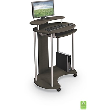 balt uprite work station sit u0026 stand desk brown