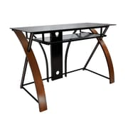 Bell'O Computer Desk with Keyboard Tray, Espresso/Black  (CD8841)