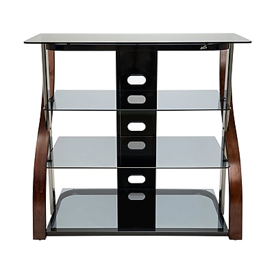 Bell O 40 Inch Tall Tv Stand For Tvs Up To 42 Inch Espresso Cw340