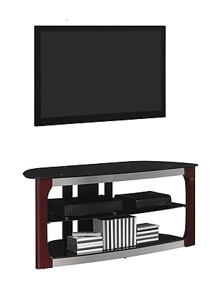 Bell'O Triple Play 52 Inch TV Stand for TVs up to 60 Inch, Dark Espresso (TPC2133)