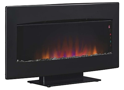 ClassicFlame Serendipity 34 Inch Wall Mounted Electric Fireplace, Textured Black Frame (34HF600GRA)