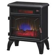 Duraflame Mason Freestanding Electric Infrared Quartz Fireplace Stove, Black (DFI-550-0)