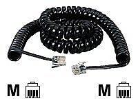 Black Box EJ300-0006 6' Modular Coiled Handset Cord, Black
