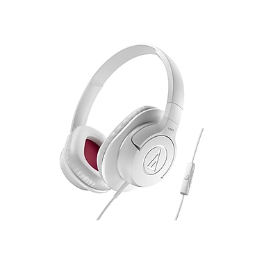 Audio-Technica® ATH-AX1iS SonicFuel® Over-ear Headphone for Smartphones, White