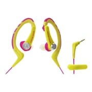 Audio-Technica® ATH-SPORT1 SonicSport® In-ear Headphone, Pink/Yellow