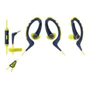 Audio-Technica® ATH-SPORT1iS SonicSport® In-ear Headphone for Smartphone, Navy/Yellow