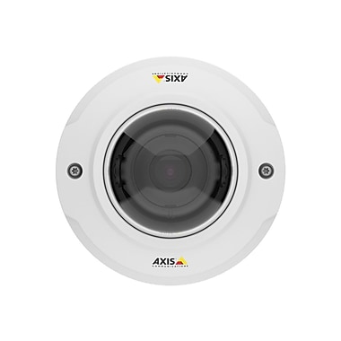 AXIS® M3046-V Wired Outdoor Fixed Mini Dome Network Camera, 2.4 mm Focal Length, White