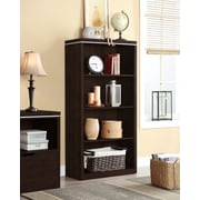 "Whalen Legeant 4-Shelf Bookcase, 32"" x 13.75"" x 60"", Espresso (SPCA-LBKC-E)"