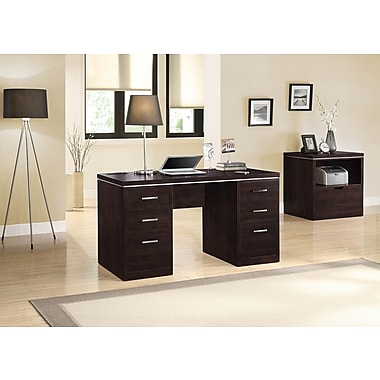 Whalen Legeant Double Pedestal Desk, 58