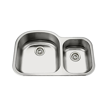 KRUGER GPD321L Pico-Sl 70/30 Bowl Kitchen Sink, 19 Gallon Capacity