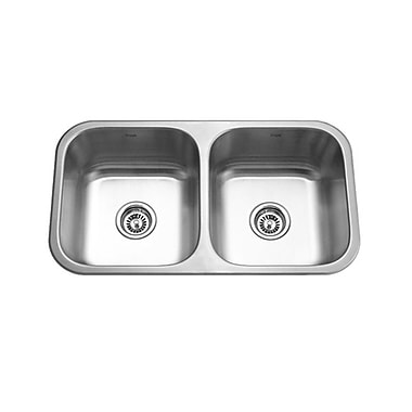 KRUGER GPD352 Pico-Ea Double Bowl Kitchen Sink, 18 Gallon Capacity