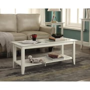 Convenience Concepts Carmel Wood/Veneer Coffee Table, White, Each (938082W)