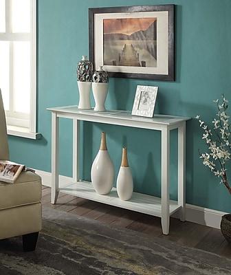 Convenience Concepts Carmel Wood/Veneer Console Table, White, Each (938099W)