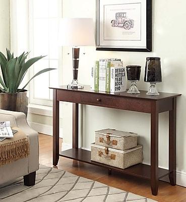 Convenience Concepts American Heritage Wood/Veneer Console Table, Espresso, Each (7104099-ES)