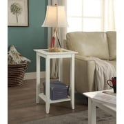 Convenience Concepts Carmel Wood/Veneer End Table, White, Each (938049W)