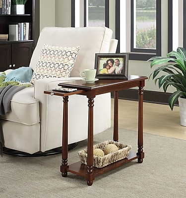 Convenience Concepts French Country Regent Wood/Veneer End Table, Mahogany, Each (7103059MG)