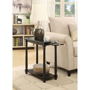 Convenience Concepts French Country Regent Wood/Veneer End Table, Black, Each (7103059BL)