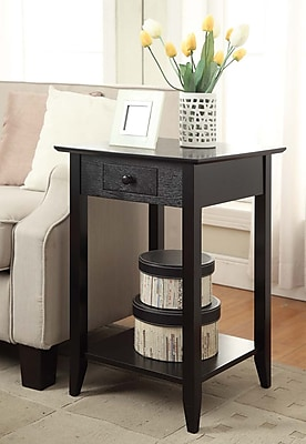 Convenience Concepts American Heritage Wood/Veneer End Table, Black, Each (7103049-BL)